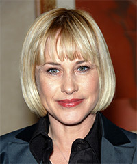 Patricia Arquette Short Straight Casual  Bob  Hairstyle
