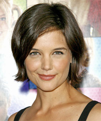 Katie Holmes Short Straight Casual    Hairstyle   -  Ash Brunette Hair Color