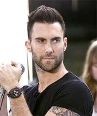 Adam Levine Short Straight Casual    Hairstyle   -  Brunette Hair Color