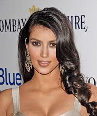 Kim Kardashian Long Wavy Formal    Hairstyle