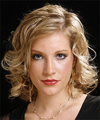 Long Curly Formal    Hairstyle   - Dark Blonde Hair Color