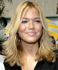 Mandy Moore Long Straight   Light Blonde   Hairstyle