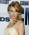 Taylor Swift  Long Curly Formal   Updo Hairstyle   - Dark Golden Blonde Hair Color