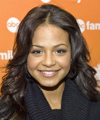 Christina Milian Long Wavy Casual    Hairstyle