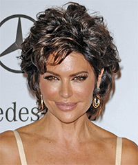 Lisa Rinna Short Straight Casual    Hairstyle   - Dark Mocha Brunette Hair Color