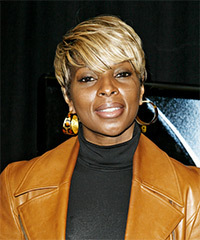 Mary J. Blige Short Straight Casual    Hairstyle