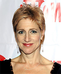 Edie Falco Short Straight Casual    Hairstyle