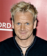 Gordon Ramsay Short Straight Casual    Hairstyle   - Light Golden Blonde Hair Color