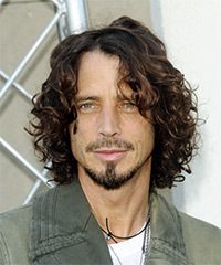 Chris Cornell Medium Curly Casual    Hairstyle