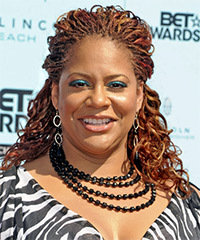 Kim Coles Long Curly Alternative   Half Up Hairstyle