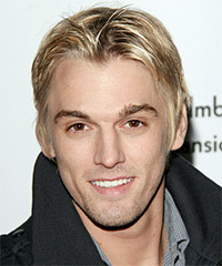 Aaron Carter Short Straight Casual    Hairstyle