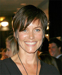Carey Lowell Short Straight Casual    Hairstyle