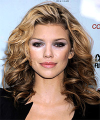 AnnaLynne McCord Long Curly Casual    Hairstyle   - Dark Blonde Hair Color