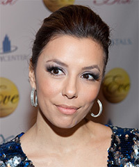 Eva Longoria Parker  Long Curly Casual   Updo Hairstyle