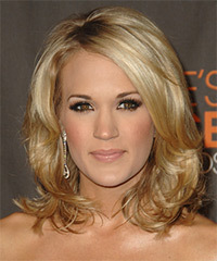 Carrie Underwood Medium Wavy Formal    Hairstyle   -  Honey Blonde Hair Color