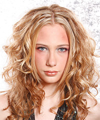 Long Curly Alternative    Hairstyle   -  Copper Blonde Hair Color