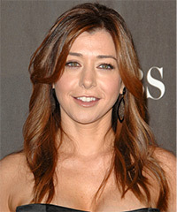 how to style hair with bangs and layers alyson hannigan hairstyles in 2018 9147