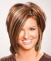 Medium Straight Formal    Hairstyle   - Light Chocolate Brunette Hair Color