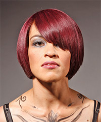 Medium Straight Alternative    Hairstyle   -  Red Hair Color